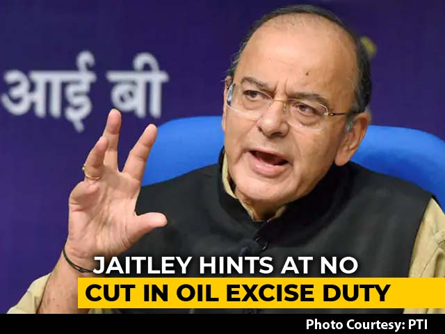 Video : Arun Jaitley Hints At No Reduction In Oil Excise Duty