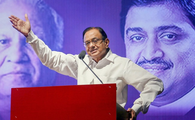 P Chidambaram Says His Forecast On Growth Rate Cut, Has Come True