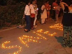 Candlelight March Over Felling Of Trees For South Delhi's Housing Project