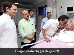 राहुल गांधी ने अस्पताल में DMK चीफ करुणानिधि से मुलाकात की