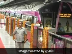 Automatic Fare Collection Gates On Magenta Line Interchange Stations