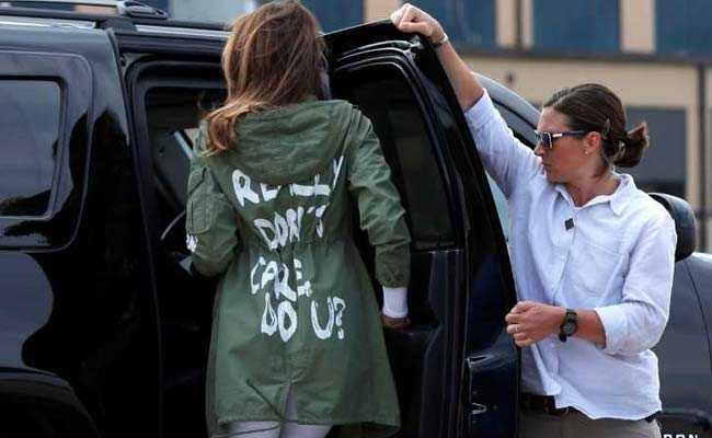 melania trump jacket reuters