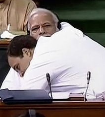 PM Modi's Theory On Why Rahul Gandhi Gave Him An 'Unwanted Hug'