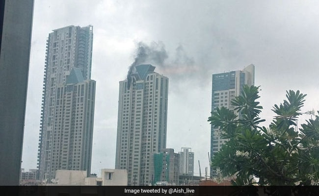 Mumbai Fire Live Updates Fire On Top Floor Of High Rise In Worli