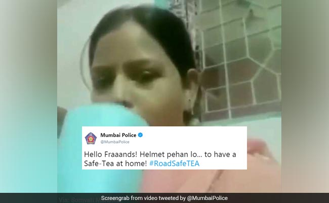 Mumbai Police Shares Road 'Safe-Tea' Message Via 'Chai Pi Lo' Aunty