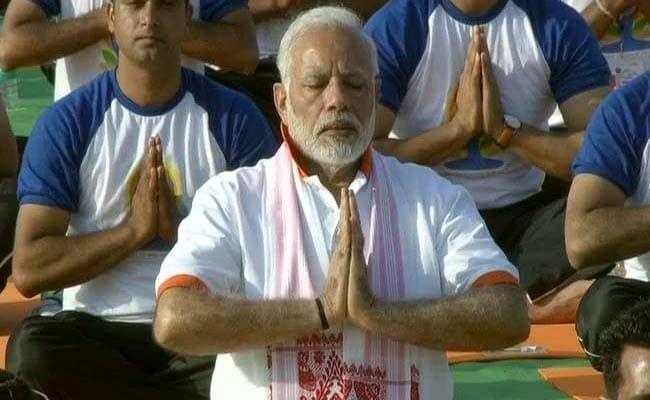 narendra modi yoga day 2018 ani