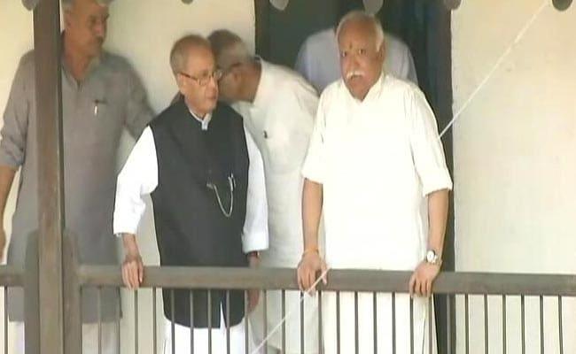 प्रणब मुखर्जी की Fake फोटो पर RSS ने कहा, 'यह संघ को बदनाम करने की घटिया चाल'