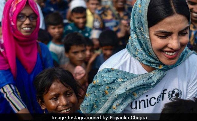रॉयल वेडिंग के बाद लंदन से सीधे बांग्लादेश पहुंची प्रियंका चोपड़ा, ये रही वजह