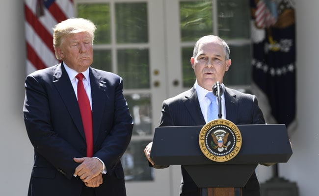 Faced With Ethics Scandal, Trump's Environment Chief Resigns