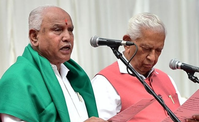 yeddyurappa swearing in afp