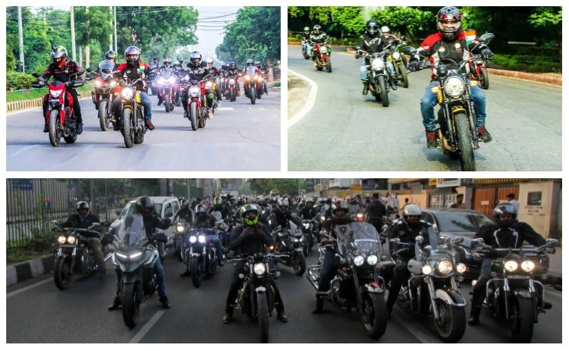 Ducati organised its first ever Independence Day ride in India