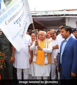 Manohar Lal Khattar Flags Off 25 Low-Floor, Hi-Tech Buses