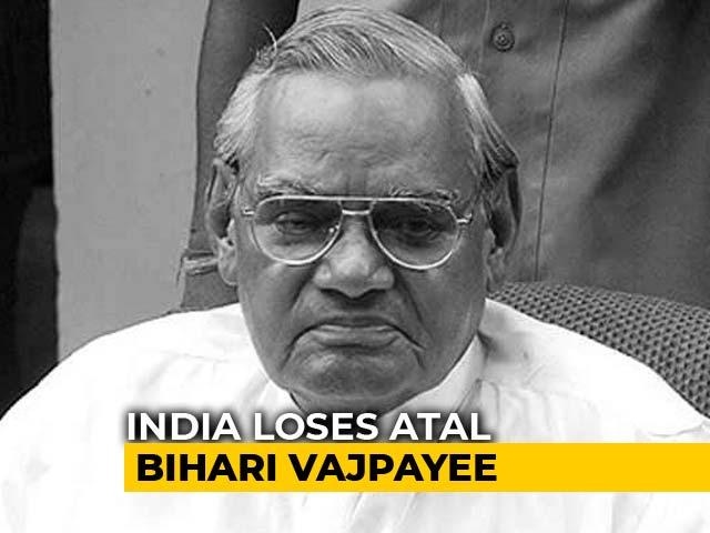 "Video : ""I Feel A Great Void"": PM Modi Mourns Atal Bihari Vajpayee"