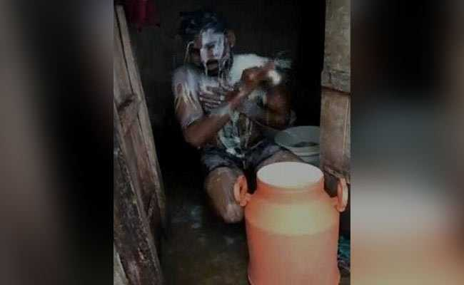 Man Bathes In 35 Litres Of Milk In Price Protest, Also Washes Cattle