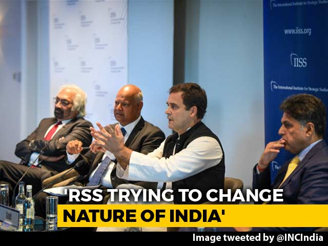 "Video : Rahul Gandhi Says RSS Like Muslim Brotherhood, BJP Calls Him ""Immature"""