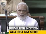 Video : Congress Submits Privilege Motion Against PM, Defence Minister On Rafale