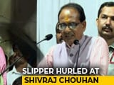 Video : Stones, Slipper Thrown At Shivraj Singh Chouhan At Rally