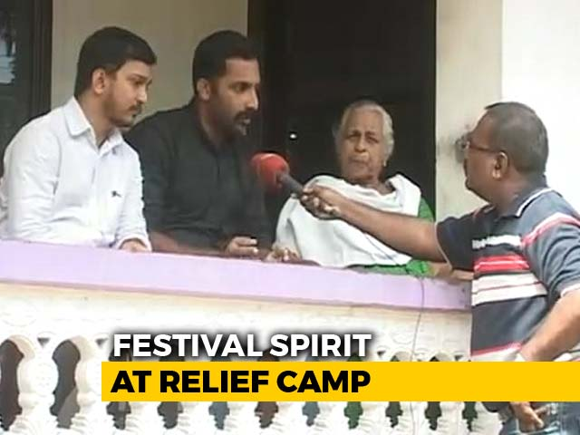 Video: In Flood-Hit Kerala, A Sombre Onam In Relief Camps