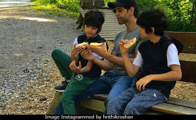 Hrithik Roshans Holiday Pic With Sons Hrehaan And Hridhaan Is Pure
