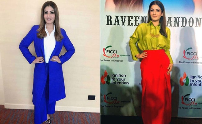 5 Times Raveena Tandon Rocked The Colour Blocking Trend