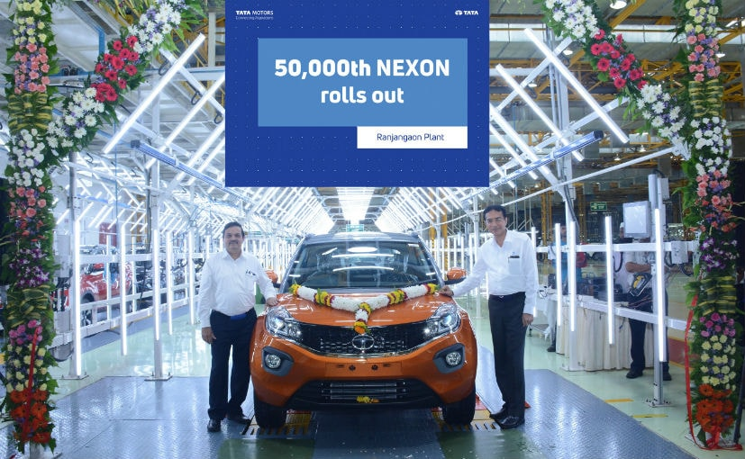 Mohan Savarkar, VP, Product Line Head and Rajesh Khatri - VP Operations, Tata Motors with the Nexon