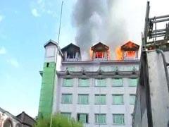 जम्मू-कश्मीर: श्रीनगर के पंपोश होटल में लगी आग, होटल में मीडिया से जुड़े कई दफ्तर