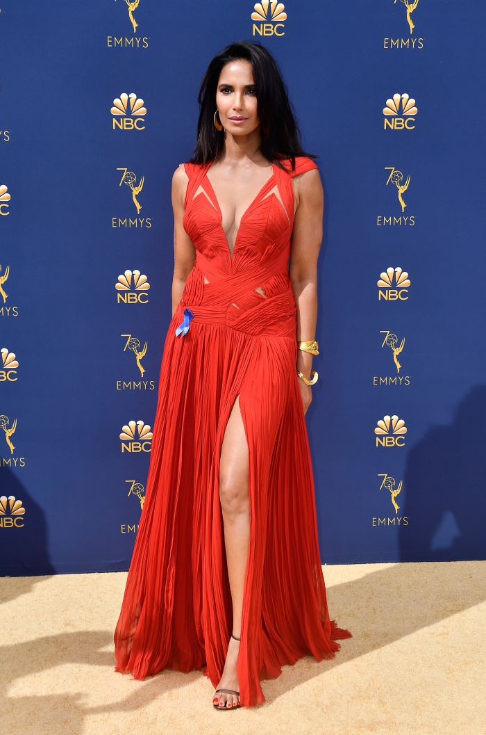 b43423700e7b Padma Lakshmi s Stunning Emmy Dress Was A Repeat. She Explains Why