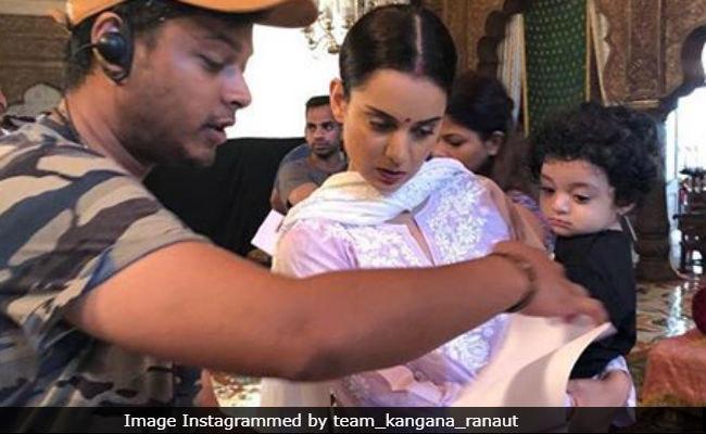 Kangana Ranaut's Nephew Prithvi Raj Visits The Sets Of Manikarnika Again