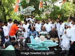 Youth Congress Activists Shave Heads In Protest Against Rafale Scam