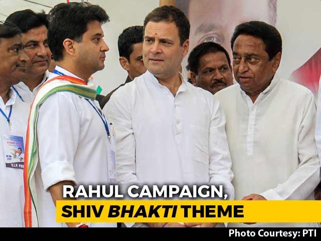 Video : 18-km Roadshow, 'Shiv Bhakt' Posters: Rahul Gandhi's Big Bhopal Show