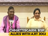 Video : Mayawati With Ajit Jogi For Chhattisgarh Polls, Stung Congress To Go Solo