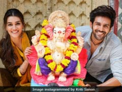 Ganesh Chaturthi 2018: Kriti Sanon And Kartik Aaryan Welcome Bappa On <i>Luka Chuppi</i> Sets