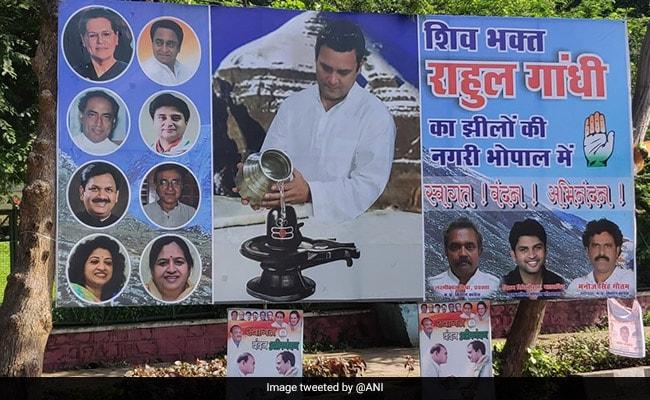 राजनीति यात्रा में अब 'भक्ति मार्ग' पर चल रहे राहुल गांधी के कितने रूप, तस्वीरों में देखें