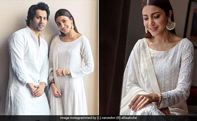 When In Lucknow: Anushka Sharma And Varun Dhawan Wear, What Else, <i>Chikankari</i>