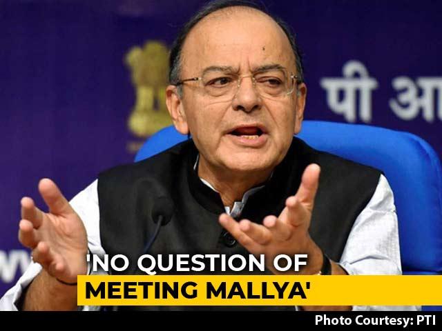 Video : Finance Minister Arun Jaitley Issues Statement On Vijay Mallya's Remarks
