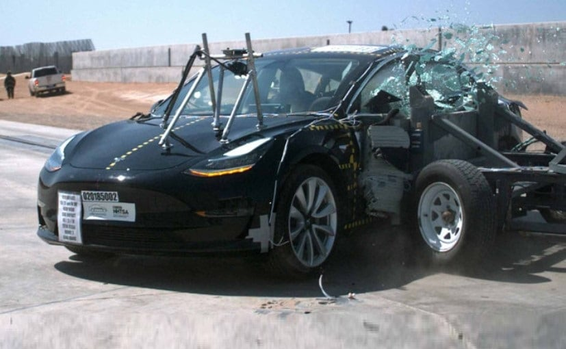 The Model 3 was subjected to three different testes - frontal impact, side impact, rollover resistance