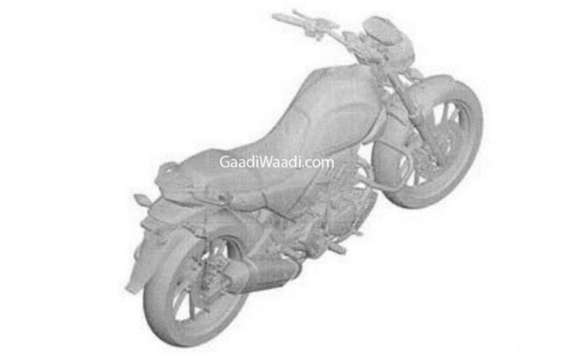 A leaked patent image reveals a new 200 cc bike from Hero MotoCorp