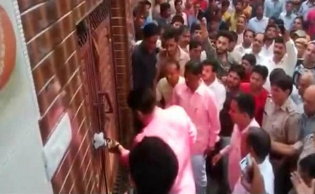 Controversy Over Video Of Delhi BJP Chief Breaking Lock Of Sealed House