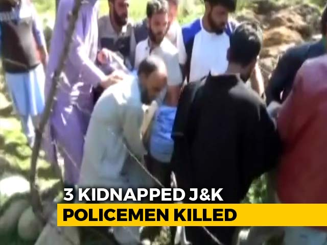 """Video : Terrorists Kidnap, Kill 3 Cops In Kashmir After """"Resign Or Else"""" Threat"""