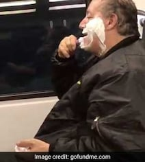 Man Mocked Online For Shaving On Train. Then They Learned He Was Homeless