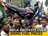 """Video: In Bharat Bandh, Motorcycle On Shoulders To Show """"Weight"""" Of Fuel Price"""