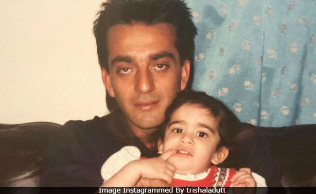 That's Sanjay Dutt And Little Trishala In 'Blast From The Past' Pic