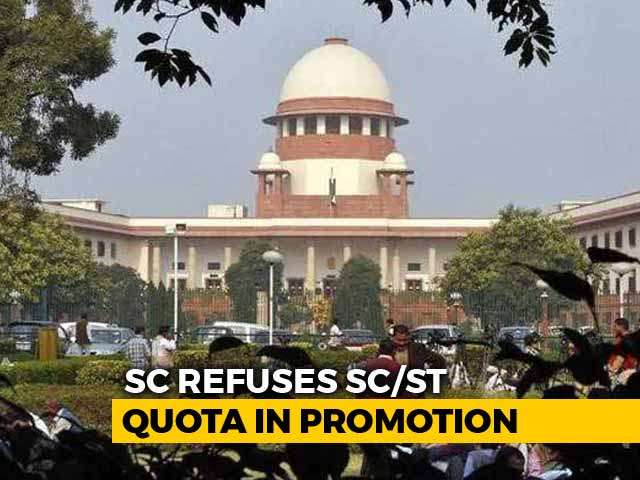 Video : Supreme Court Refuses To Review Its Order On Quota In Job Promotions