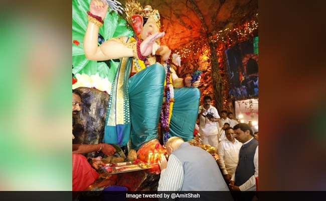 Ganesh Chaturthi: Amit Shah Offers Prayers To Lord Ganesh In Mumbai