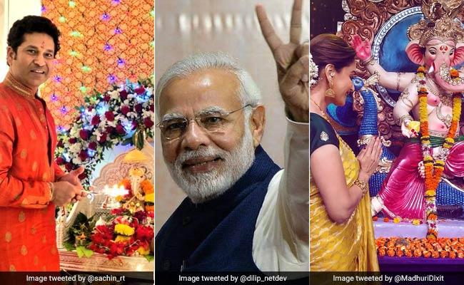 Ganesh Chaturthi: पीएम नरेंद्र मोदी, राहुल गांधी से बॉलीवुड सितारों तक ने किया Wish, कहा...गणपति बप्पा मोरिया