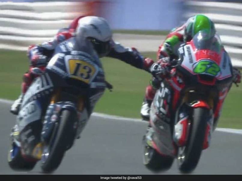 Watch: Moto2 Rider Banned After Grabbing Rival