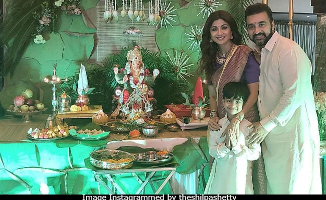 Ganesh Chaturthi 2018: Inside Shilpa Shetty's Puja And Mini Fam-Jam
