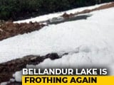 Video : In Bengaluru, 10-Foot-High Froth At Bellandur Lake After All-Nighter Rain