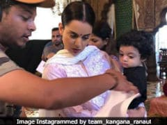 Kangana Ranaut's Nephew Prithvi Raj Visits The Sets Of <i>Manikarnika</i> Again