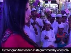 कैटरीना कैफ ने अर्पिता के घर गणेश पूजा में की आरती, यूलिया के साथ पहुंचे सलमान खान- देखें Video